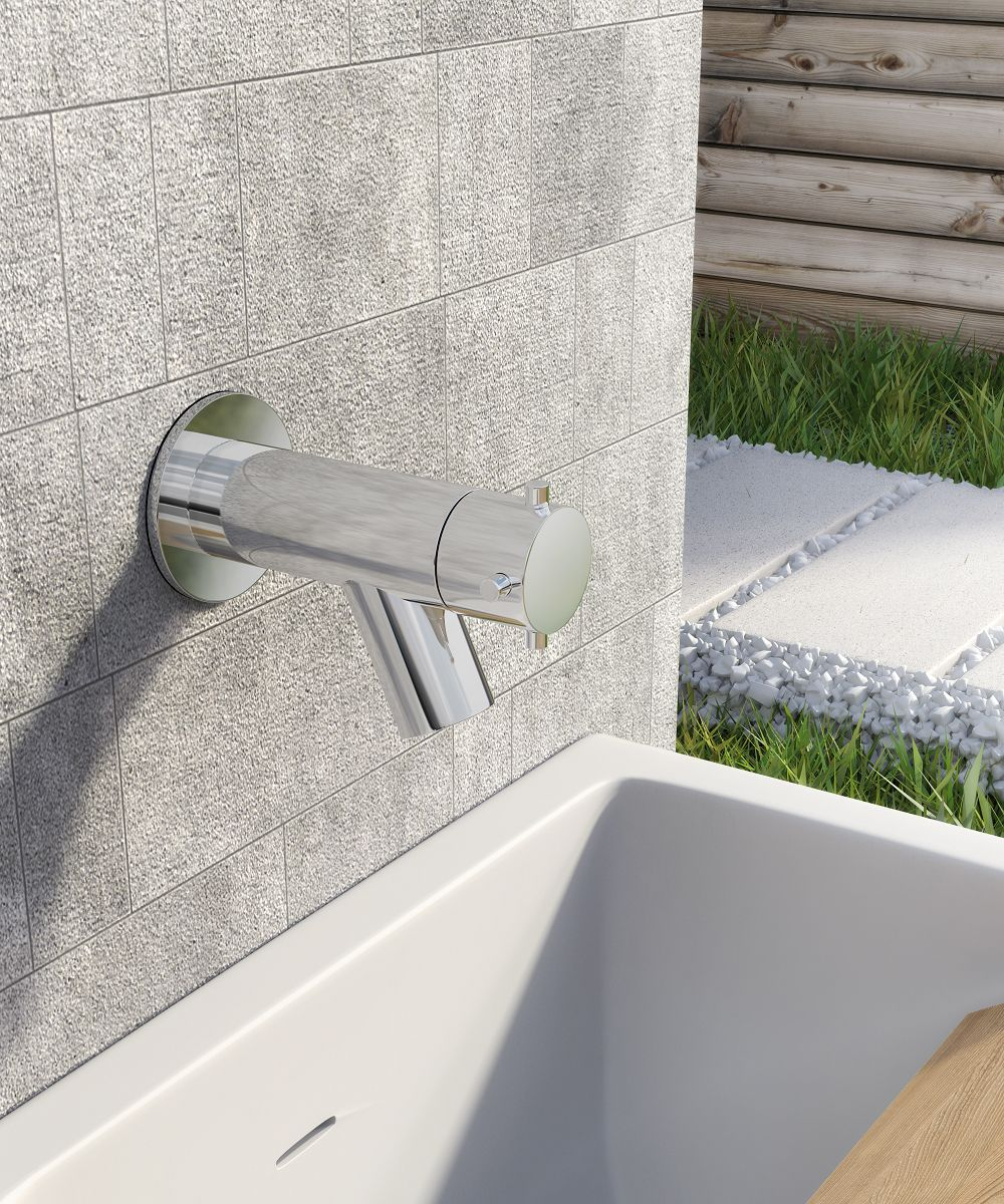 Water Faucet Wall Mounted Water Tap Garden Bathroom Faucet Stainless Steel W